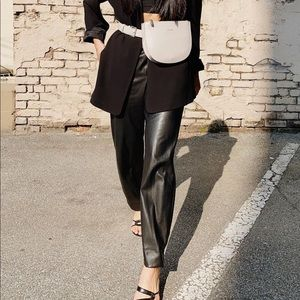 Zara Faux Leather Pants